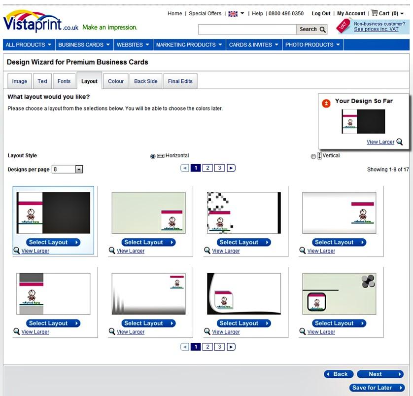 Vistaprint premium business cards review including vistaprints vistaprint layout fbccfo Gallery