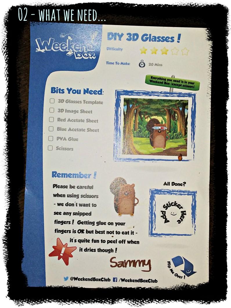 Weekend Box - Worksheet